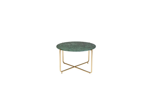 Picture of Nancy's Hamilton Square Table - Modern - Green, Gold - Marble, Iron - 70 cm x 70 cm x 40 cm