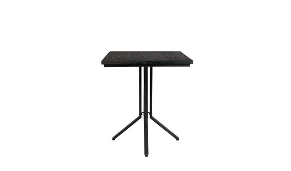 Picture of Nancy's Robinson Counter Table - Industrial - Black - Teak, Steel, Plywood - 75 cm x 75 cm x 93 cm