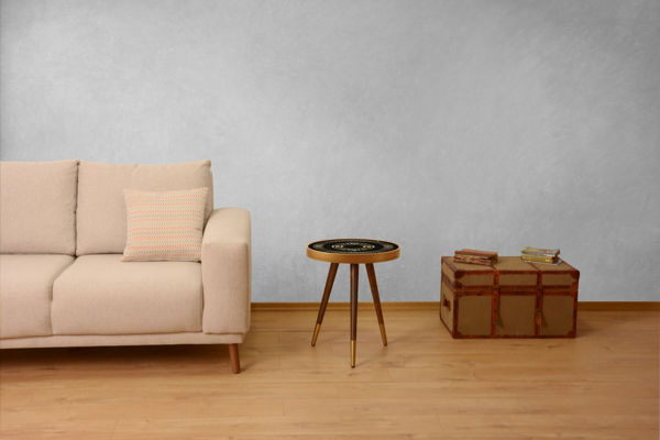 Picture of Nancy's Keizer Side table - Design - Brown, Gold, Black - Fabricated Wood - 45 cm x 45 cm x 45 cm
