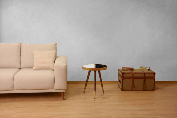 Picture of Nancy's New Berlin Side table - Design - Brown, White, Black - Fabricated Wood - 45 cm x 45 cm x 45 cm