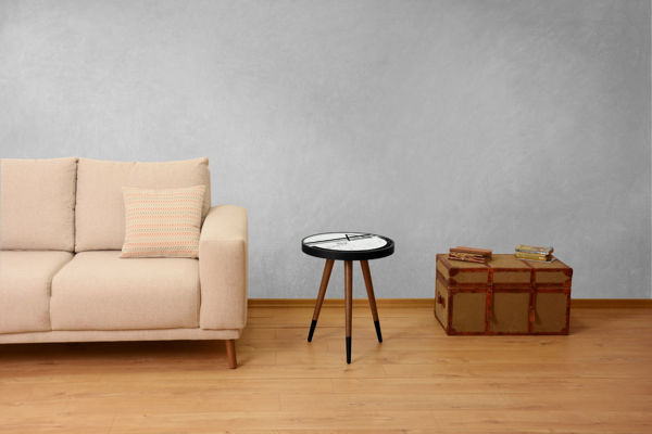 Picture of Nancy's The Acreage Side Table - Design - Brown, Black, White - Fabricated Wood - 45 cm x 45 cm x 45 cm