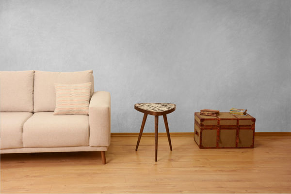 Picture of Nancy's Issaquah Side table - Vintage - Brown - Fabricated Wood - 45 cm x 45 cm x 45 cm