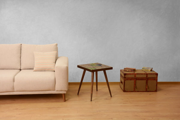 Picture of Nancy's Stanton Side table - Industrial - Brown - Fabricated Wood - 45 cm x 45 cm x 45 cm