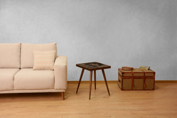 Picture of Nancy's London Side table - Vintage - Brown - Fabricated Wood - 45 cm x 45 cm x 45 cm