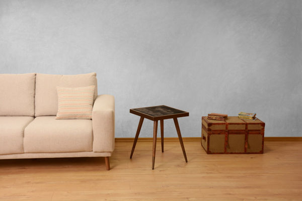 Picture of Nancy's Waxahachie Side Table - Vintage - Brown - Fabricated Wood - 45 cm x 45 cm x 45 cm