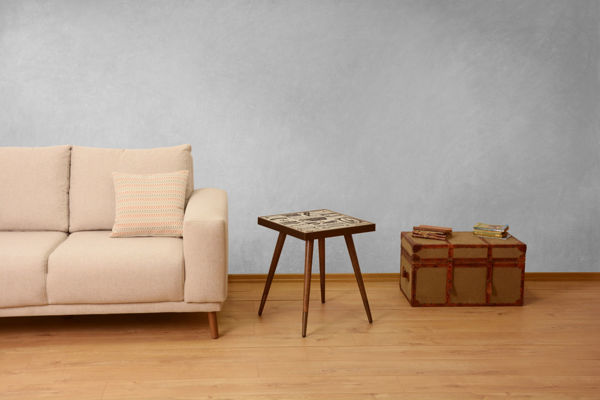 Picture of Nancy's Egypt Lake-Leto Side Table - Vintage - Brown - Fabricated Wood - 45 cm x 45 cm x 45 cm