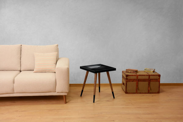 Picture of Nancy's White River Jct Side table - Design - Brown, Black - Fabricated Wood - 45 cm x 45 cm x 45 cm
