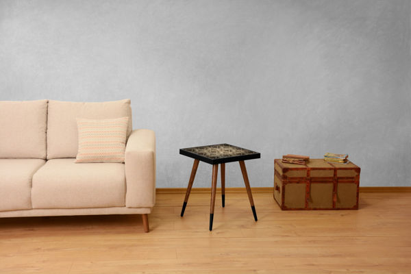 Picture of Nancy's West Valley City Side Table - Design - Brown, Black - Fabricated Wood - 45 cm x 45 cm x 45 cm
