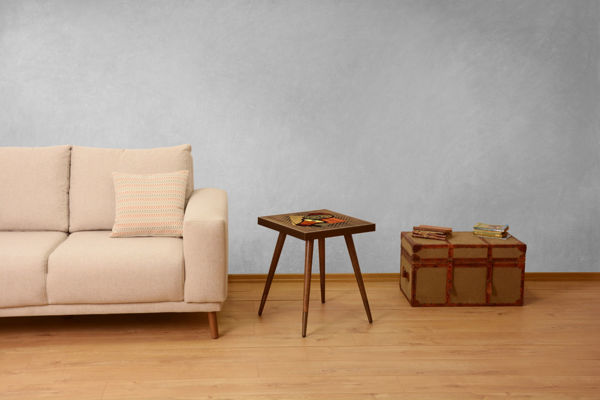 Picture of Nancy's Carrizo Springs Side table - Design - Brown, Orange - Fabricated Wood - 45 cm x 45 cm x 45 cm