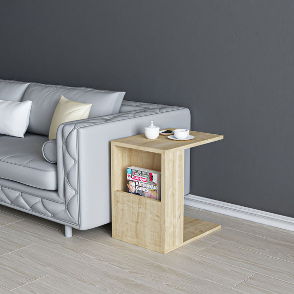 Picture of Nancy's Madisonville Side Table - Modern - Brown - Fabricated Wood - 40 cm x 30 cm x 50 cm