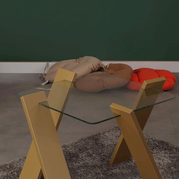 Picture of Nancy's St. Petersburg Coffee Table - Design - Yellow - Fabricated Wood - 57 cm x 57 cm x 41 cm
