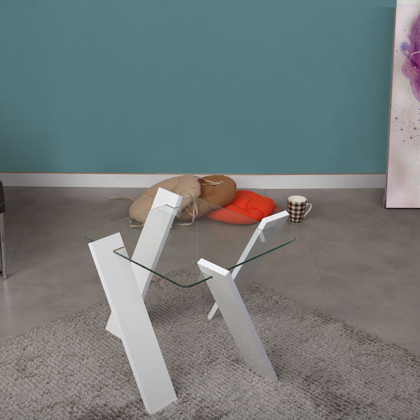 Picture of Nancy's St. Augustine Coffee Table - Design - White - Fabricated Wood - 57 cm x 57 cm x 41 cm