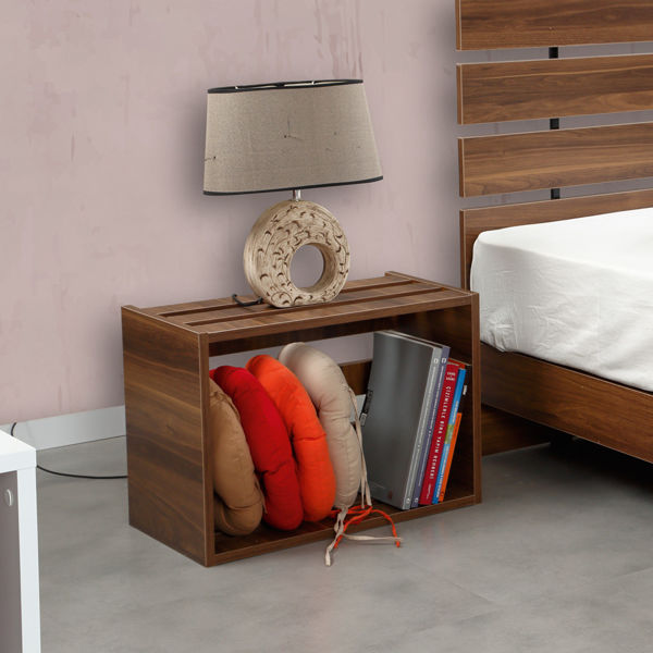 Picture of Nancy's Spring Valley Bedside Table - Modern - Brown - Fabricated Wood - 33 cm x 60 cm x 43 cm