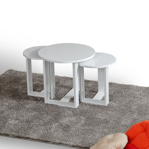 Picture of Nancy's Jurupa Valley Side Table - Modern - White - Fabricated Wood - 36 cm x 36 cm x 41 cm