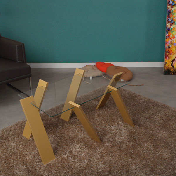 Picture of Nancy's Rochester Hills Coffee Table - Design - Yellow - Fabricated Wood - 57 cm x 92 cm x 41 cm