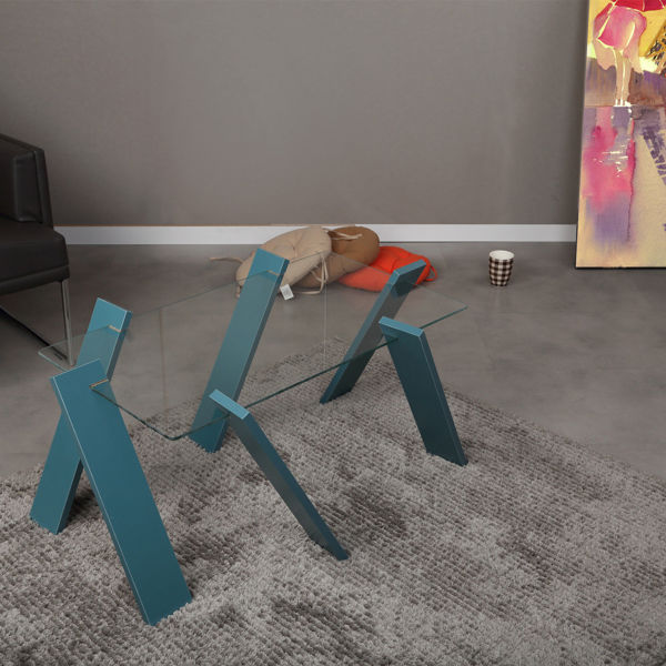 Picture of Nancy's Spring Hill Coffee Table - Design - Blue - Fabricated Wood - 57 cm x 92 cm x 41 cm