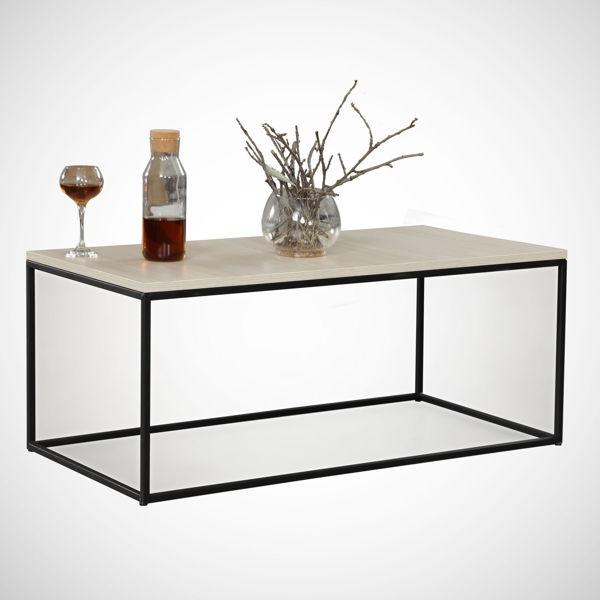 Picture of Nancy's Dale City Coffee Table - Modern - Brown, Black - Fabricated Wood, Metal - 55 cm x 95 cm x 43 cm
