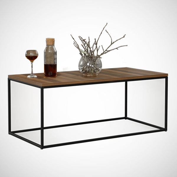 Picture of Nancy's Commerce City Coffee Table - Modern - Brown, Black - Fabricated Wood, Metal - 55 cm x 95 cm x 43 cm