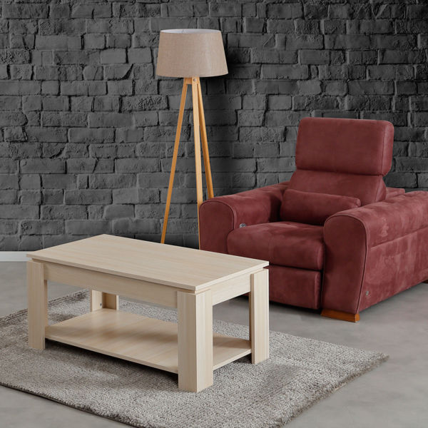 Picture of Nancy's South Fulton Coffee Table - Scandinavian - Brown - Fabricated Wood - 56 cm x 104 cm x 47 cm