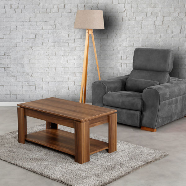 Picture of Nancy's South Jordan Coffee Table - Industrial - Brown - Fabricated Wood - 56 cm x 104 cm x 47 cm