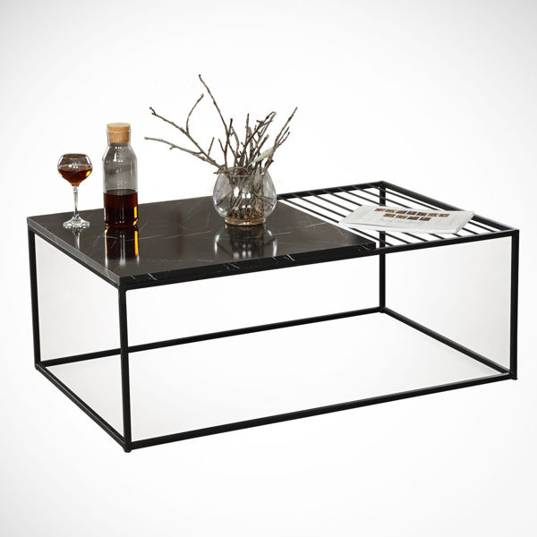 Picture of Nancy's The Colony Coffee Table - Modern - Black - Fabricated Wood, Metal - 55 cm x 95 cm x 43 cm