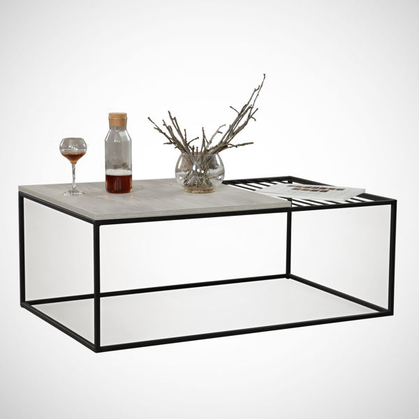 Picture of Nancy's The Meadows Coffee Table - Modern - Grey, Black - Fabricated Wood, Metal - 55 cm x 95 cm x 43 cm
