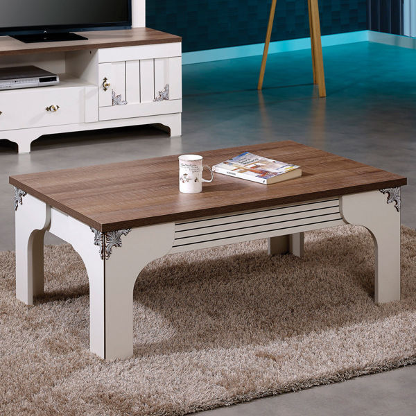 Picture of Nancy's Dell Rapids Coffee Table - Retro - Brown, White - Fabricated Wood - 110 cm x 65 cm x 45 cm