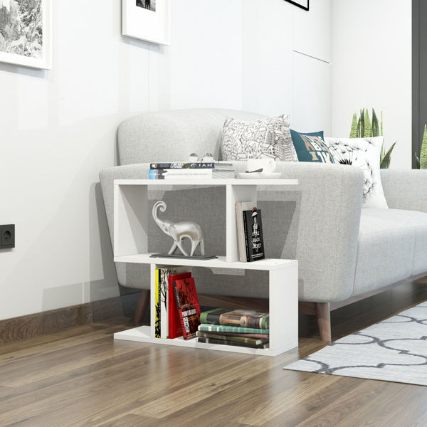 Picture of Nancy's Grand Prairie Side Table - Modern - White - Fabricated Wood - 20 cm x 60 cm x 55 cm