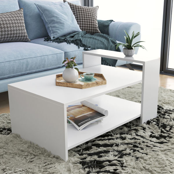 Picture of Nancy's Leesburg Coffee Table - Modern - White - Fabricated Wood - 60 cm x 90 cm x 50 cm