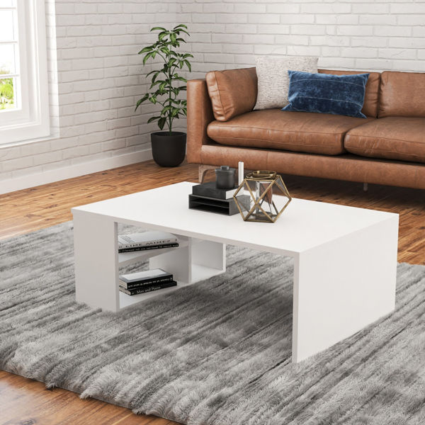 Picture of Nancy's Huntersville Coffee Table - Modern - White - Fabricated Wood - 60 cm x 90 cm x 33.6 cm
