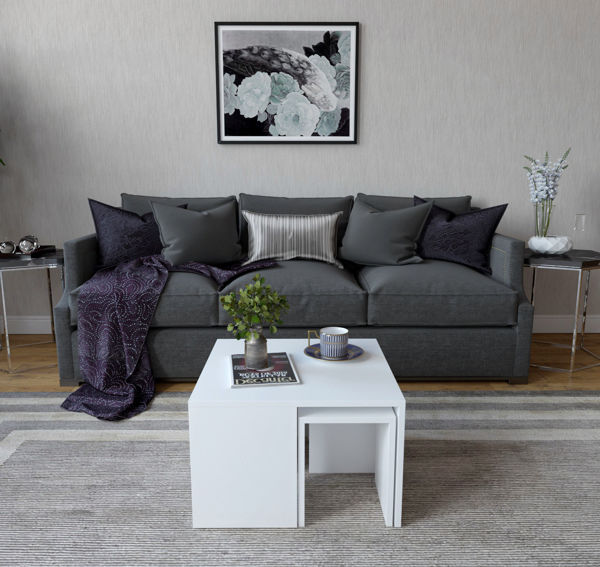 Picture of Nancy's Castro Valley Coffee Table - Modern - White - Fabricated Wood - 60 cm x 60 cm x 36.8 cm