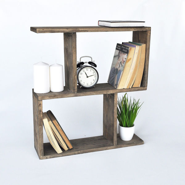 Picture of Nancy's Mission Viejo Side table - Industrial - Brown - Spruce Wood - 13 cm x 55 cm x 60 cm