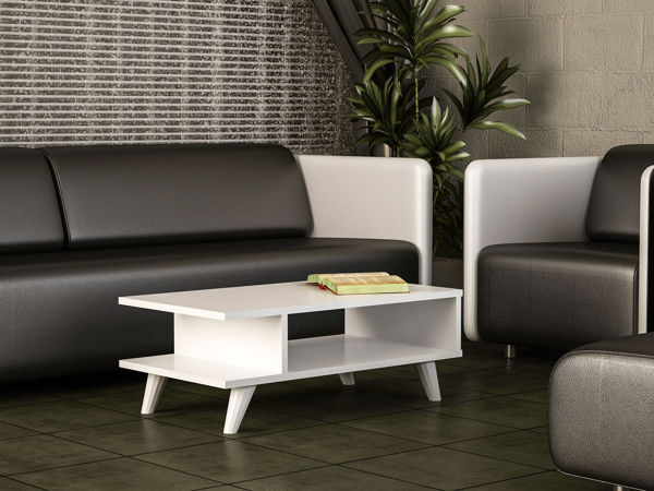 Picture of Nancy's Centennial Coffee Table - Modern - White - Fabricated Wood - 45 cm x 80 cm x 30 cm