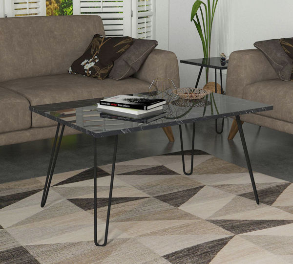Picture of Nancy's North Richland Hills Coffee Table - Design - Black - Fabricated Wood, Metal - 60 cm x 90 cm x 47 cm