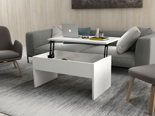 Picture of Nancy's Arden-Arcade Coffee Table - Modern - White - Fabricated Wood - 45 cm x 90 cm x 52 cm