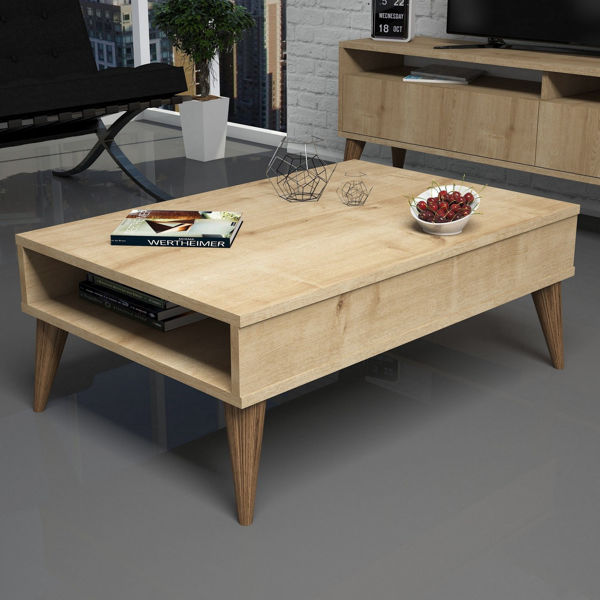 Picture of Nancy's Brookhaven Coffee Table - Scandinavian - Brown - Fabricated Wood - 60 cm x 90 cm x 34.6 cm
