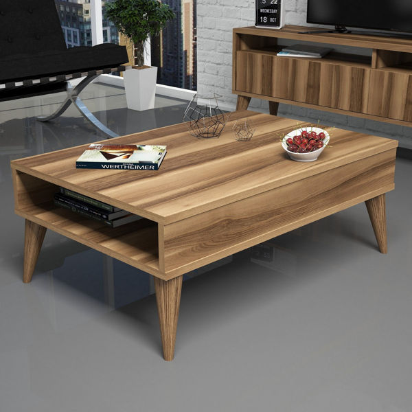 Picture of Nancy's Tigard Coffee Table - Scandinavian - Brown - Fabricated Wood - 60 cm x 90 cm x 34.6 cm