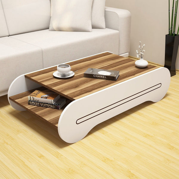 Picture of Nancy's Arroyo Grande Coffee Table - Design - Brown, White - Fabricated Wood - 30 cm x 120 cm x 64 cm