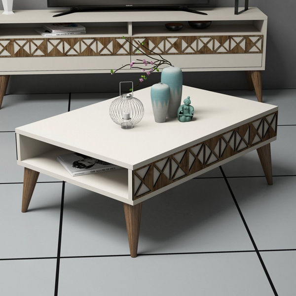 Picture of Nancy's Sandy Springs Coffee Table - Modern - Brown - Fabricated Wood - 60 cm x 90 cm x 34.6 cm