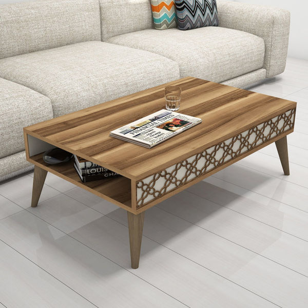 Picture of Nancy's Lake Worth Coffee Table - Modern - Brown - Fabricated Wood - 37 cm x 105 cm x 60 cm