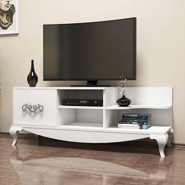 Picture of Nancy's St. Marys TV Furniture - Retro - White - Fabricated Wood - 51 cm x 130 cm x 45 cm