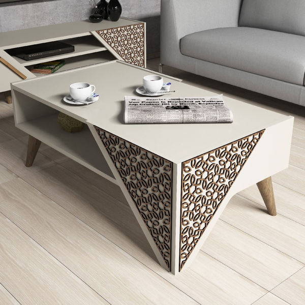Picture of Nancy's Eden Prairie Coffee Table - Design - Brown - Fabricated Wood - 40 cm x 105 cm x 58 cm