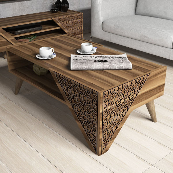 Picture of Nancy's Pleasant Prairie Coffee Table - Design - Brown - Fabricated Wood - 40 cm x 105 cm x 58 cm