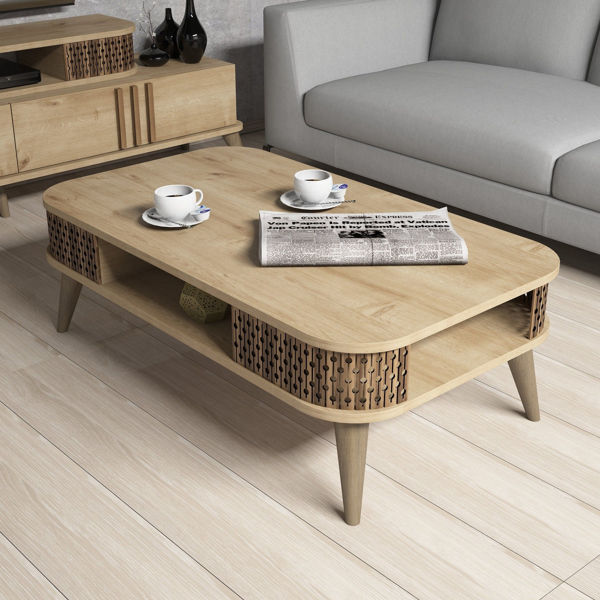 Picture of Nancy's Los Gatos Coffee Table - Design - Brown - Fabricated Wood - 35 cm x 105 cm x 60 cm