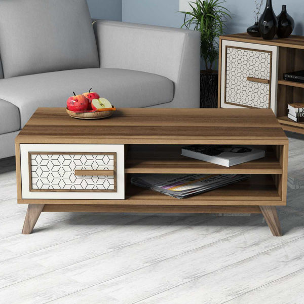 Picture of Nancy's Streamwood Coffee Table - Modern - Brown - Fabricated Wood - 38.2 cm x 105 cm x 60 cm