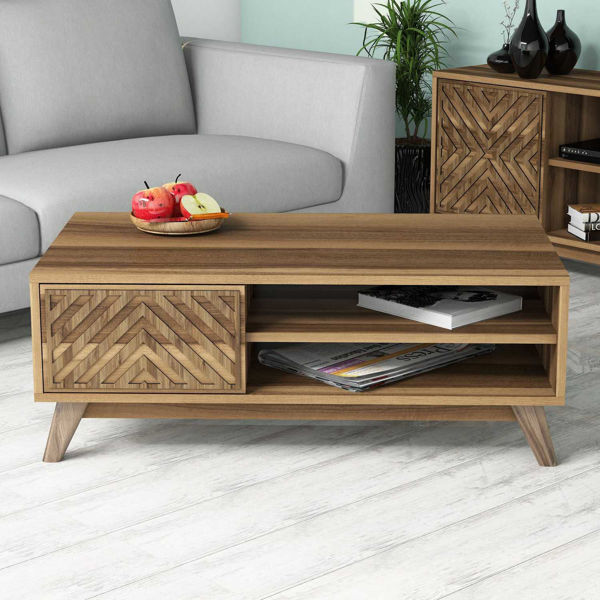 Picture of Nancy's Miami Lakes Coffee Table - Modern - Brown - Fabricated Wood - 38.2 cm x 105 cm x 60 cm