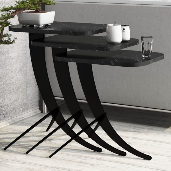 Picture of Nancy's Hanover Park Side table - Design - Black - Fabricated Wood, Metal - 35 cm x 45 cm x 60 cm