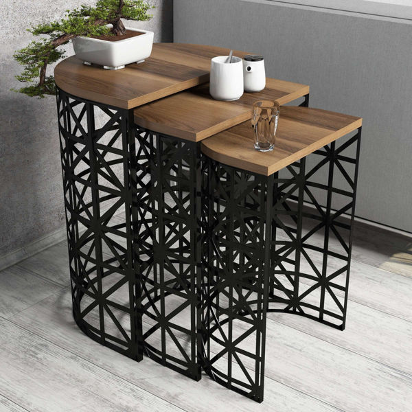 Picture of Nancy's Sulphur Springs Side table - Design - Black, Brown - Fabricated Wood, Iron - 33 cm x 46 cm x 62 cm