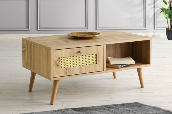 Picture of Nancy's Bel Air North Coffee Table - Scandinavian - Brown - Fabricated Wood - 45 cm x 97 cm x 55 cm