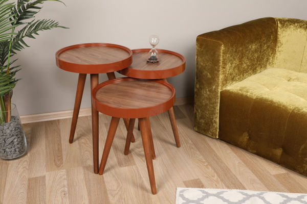 Picture of Nancy's Warrensville Heights Side Table - Design - Brown - Fabricated Wood - 39 cm x 39 cm x 60.5 cm